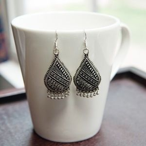 Sterling Plated Boho Pattern Earrings